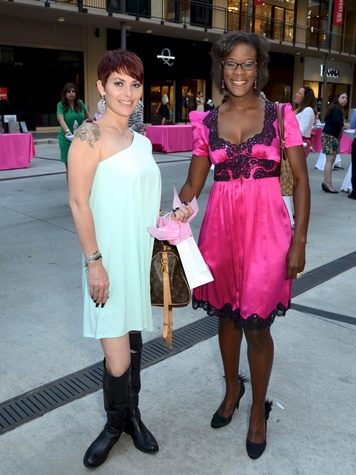 6 Paige Camus, left, and Roni Garrett at the West Ave Turns Pink party October 2013