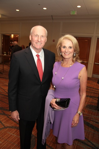John Arnoldy and Denise Monteleone at the Houston Living Legend fundraiser dinner May 2014