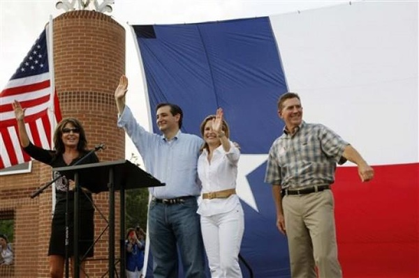 sarah palin ted cruz the woodlands