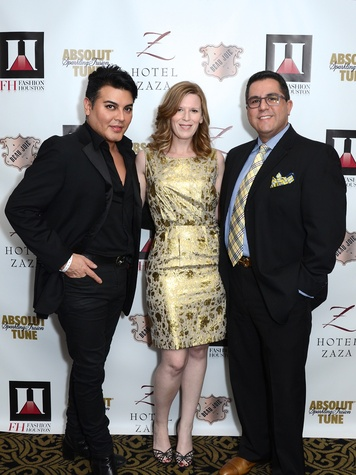 Edward Sanchez, from left, Carey Kirkpatrick and Dr. Roland Maldonado at the Fashion Houston Launch Party October 2013