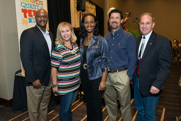 HEB executives James Harris, Cyndy Garza Roberts, Winell Herron, Reade Ahrens, Jody Hall at HEB Primo Picks party