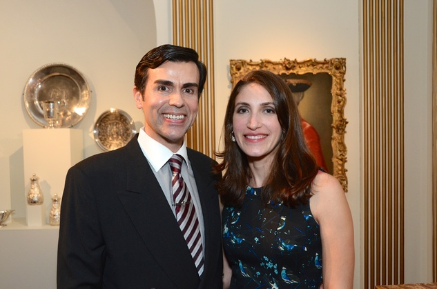 Jon Vague and Adriana Rubio at the Rienzi Punch Party October 2014
