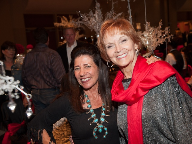 Susan Palmer, left, and Donna Asbill at the Northwest Ministries Gala October 2013