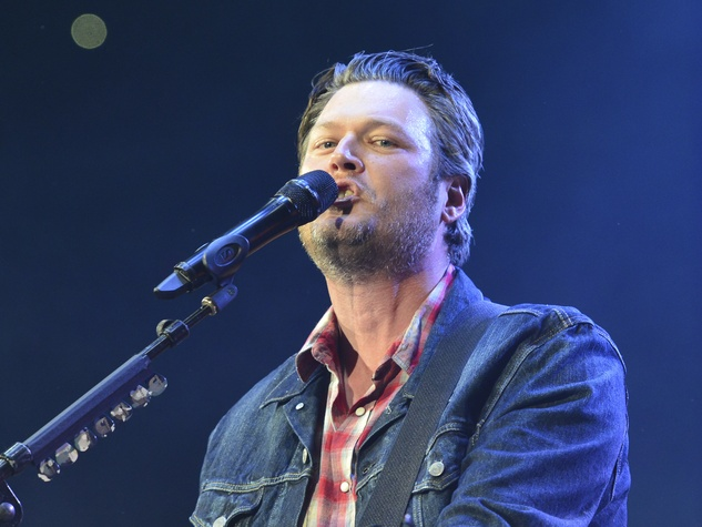 Blake Shelton at Houston Rodeo March 2014