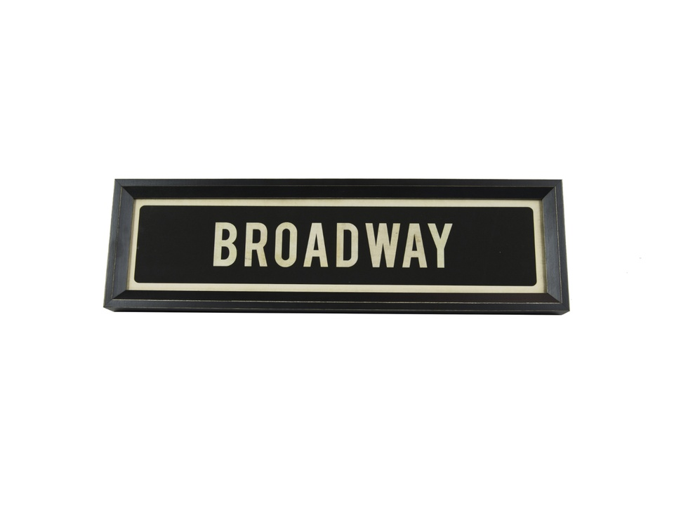 RedRover Alley Gift Guide - Broadway Sign - December 2014