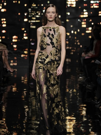 Look 35 Clifford Pugh New York Fashion Week fall 2015 February 2015 Donna Karan