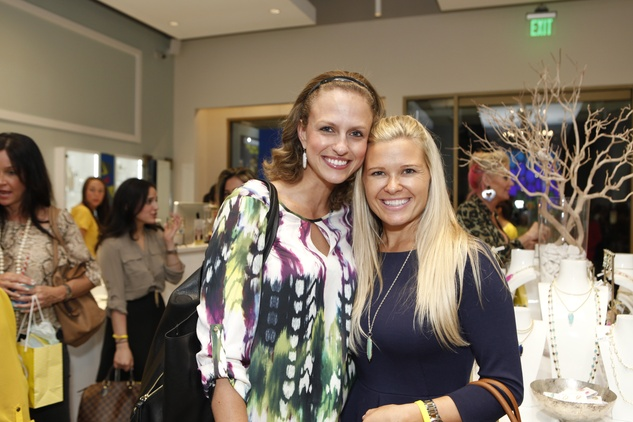16 Meredith Smith, left, and Caley Kover at WOW with Kendra Scott October 2014
