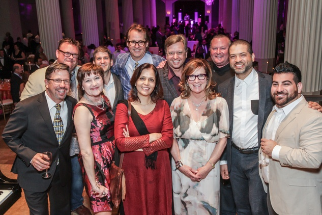 Chefs with Robert del Grande, Kipp Baxter, Carolyn Prio Landen and Jason Moran at Club da Camera
