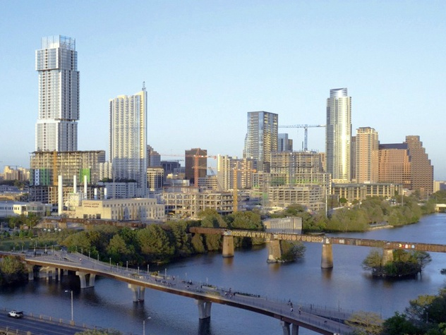 The Independent_condo_downtown Austin skyline_rendering_2015