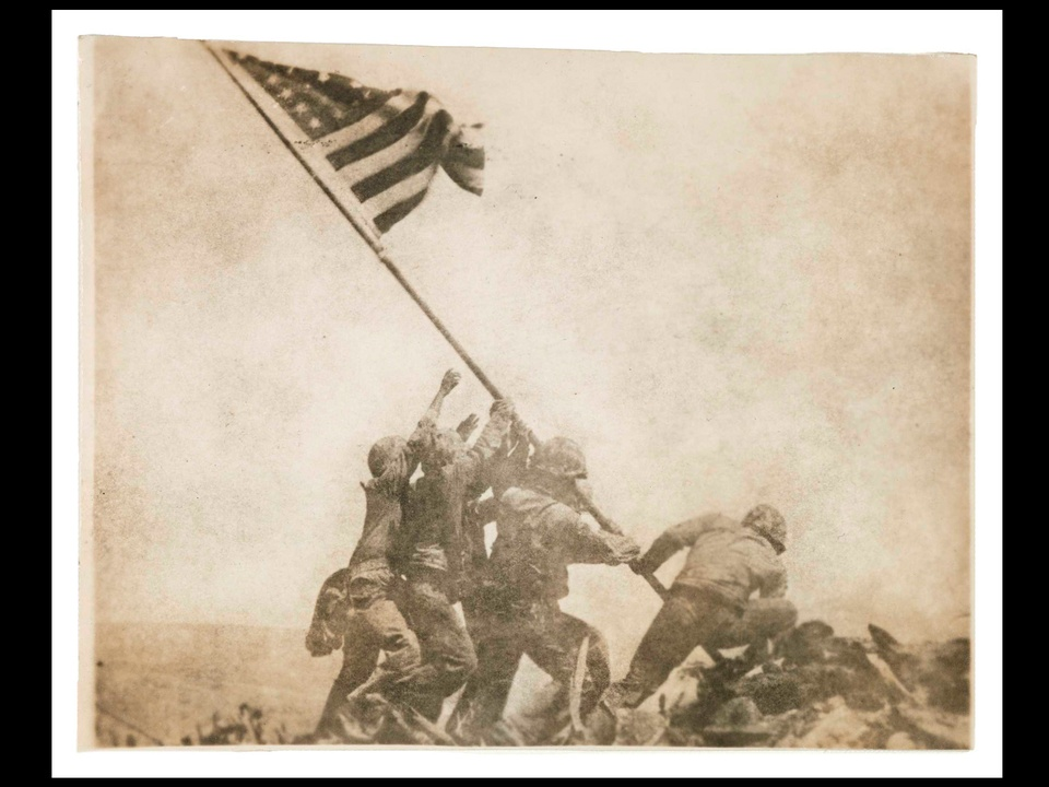 MFAH, War-Photography, November 2012, Rosenthal - Old Glory