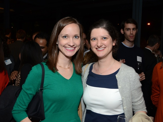 21 Eliza Wright, left, and Lee Mimms at the Holocaust Museum Houston's Next Generation Young Professionals kickoff party November 2013