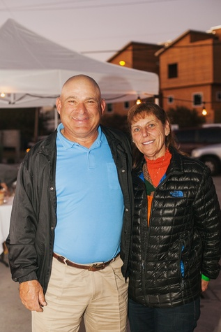 25 Mike and Theresa Atkinson at the Urban Harvest 10th anniversary dinner November 2014