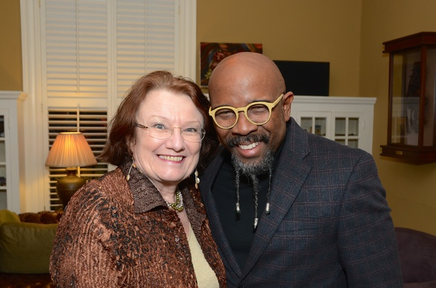 1 Kathy Hubbard and Rudy Rasmus at Cindy Clifford's birthday bash November 2014
