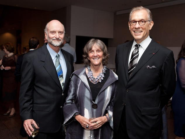 13 Bill and Sara Morgan, from left, with Gary Tinterow at the MFAH opening reception for American Adversaries October 2013
