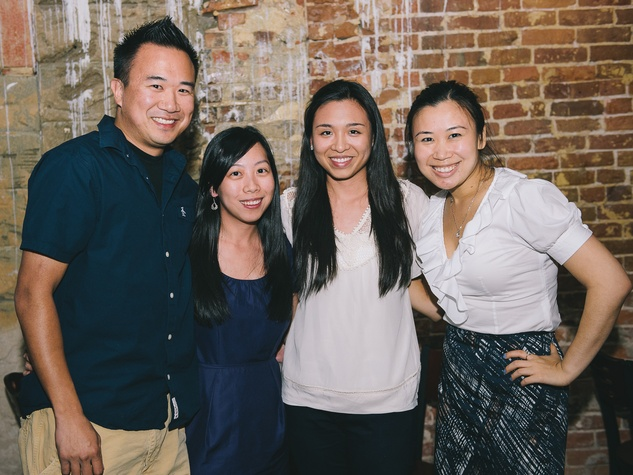 17 Dine Around Houston at Batanga September 2013 Johnathan Lui, Jennifer Lai, Hillary Patuwo, Jennifer Cheng