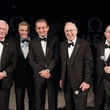 Omega Apollo 13, Gene Cernan, George Clooney, Stephen Urquhart, Jim Lovell and Tom Stafford.May 2015
