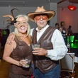 Karen Degeurin and Howard Covens at the Brasserie 19 Halloween party October 2014