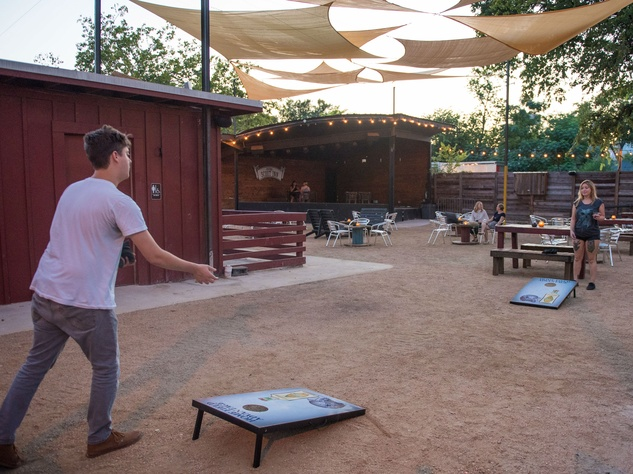 The Scoot Inn venue bar East Austin renovations 2016 outside yard games