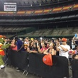 Astrodome public tour 50th anniversary party April 2015 Orbit is still a fan favorite