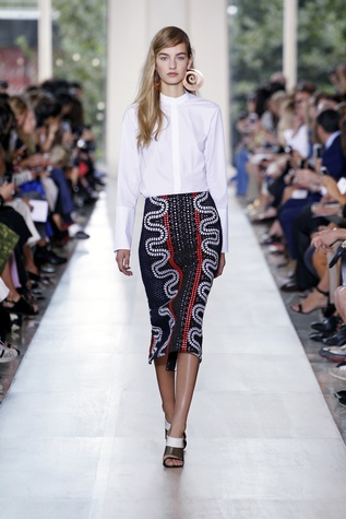 Tory Burch spring 2015 collection look 2