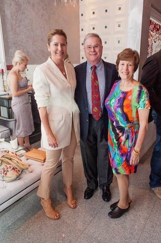 104 Kate McConnico, from left, with Jim and Judy Nicklos at the Stages Repertory Theatre Soiree Marie October 2014
