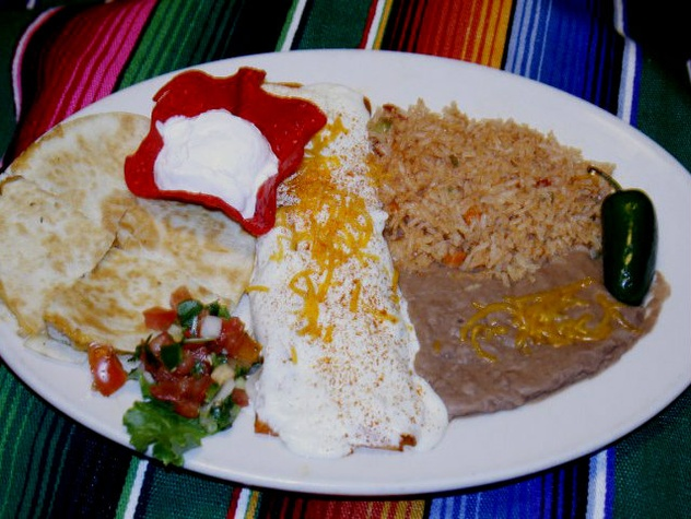 Combo plate at Cafe del Rio