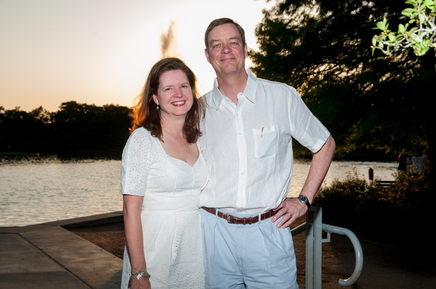Doreen Stoller and Dan Piette at the Urban Green Birthday en Blanc May 2014