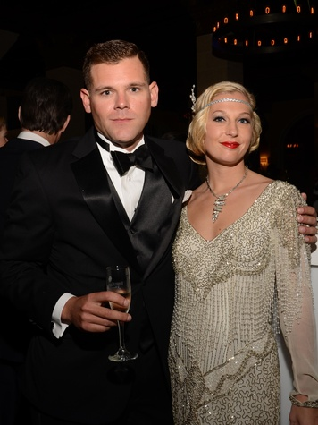 Bradley Winslett and Chelsea Bower at the Knights of Momus Coronation Ball February 2014
