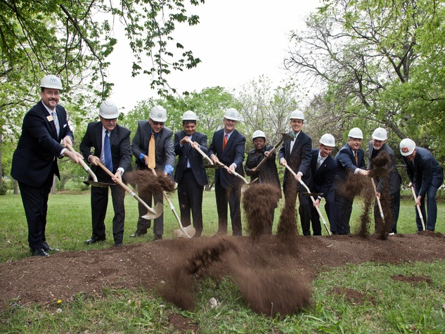 Groundbreaking at The Cottages