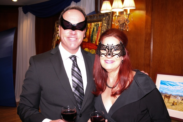 "Brock Molter and Mari Kieke at Crossroads School's ""Superhero Soiree"" Gala February 2015"