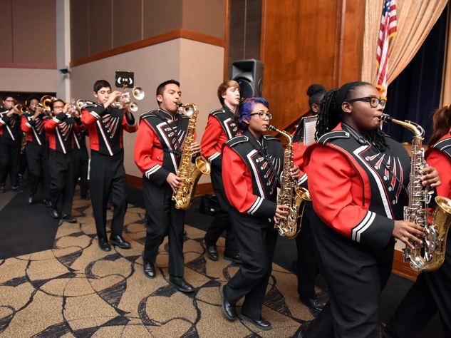 Houston, Beth Yeshurun Day School gala, December 2015, Bellaire High School Marching Band
