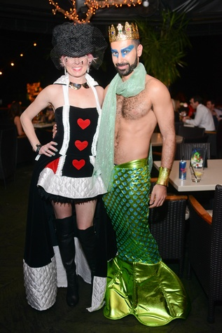 Vivian Wise and Fady Armanious at Hotel ZaZa's Halloween Bash November 2014