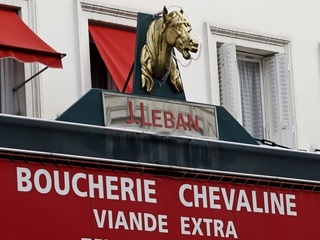 France horse butcher sign