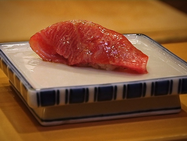 Sushi, movie, Tuna Nigiri Sushi as Served by Master Sushi Chef Sugiyama in Tokyo