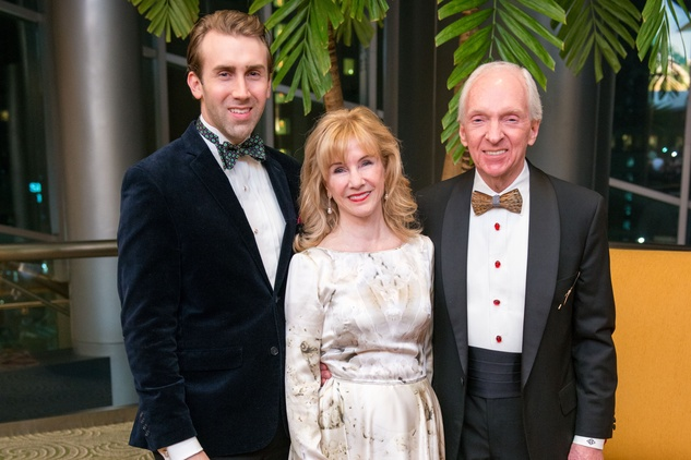 Dr. Charles Osterberg, left, with Susan and Edward Osterberg MWat the Winter Ball January 2015