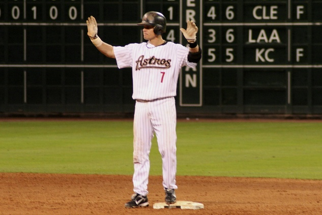 Craig Biggio hands up