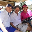 Dr. David Rosenfield, from left, Johnny Duncan and Maria Rosenfield Houston Methodist in Aspen July 2014