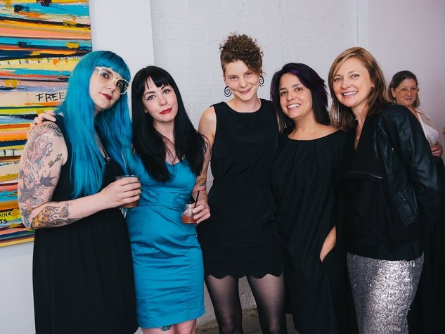 12 Lindsay Burleson, from left, Lindsay Beal, Dylan Carnes, Miriam Carillo and Dawn Callaway at CultureMap's 2014 Tastemakers Awards May 2014