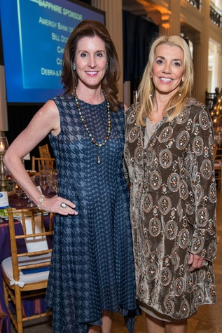 Phoebe Tudor, left, and Marie Bosarge at the Legacy Luncheon September 2014