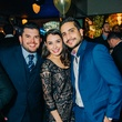 Luis Larios, left, with Shatha and Ramzy Kasem at New Year's Eve at Local Pour January 2015