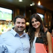 Casey Hartle and Erika Duque at the Springbok restaurant kick-off party July 2014