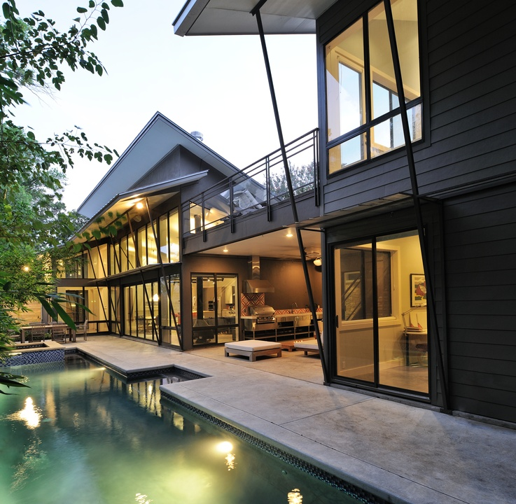 Houston  5th Annual Houston Modern Home Tour  August 2015  2232 Colquitt   pool. Modern Home Tour opens doors on seven fab contemporary residences