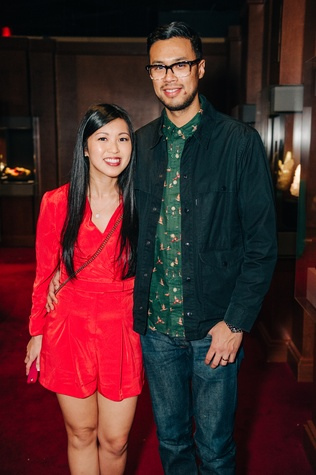 News, Shelby, Museum of Natural Science Catalyst party, Feb. 2015, Tiffany and Joe Kare