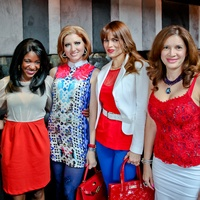 Bastille Day Celebration at Philippe Restaurant + Lounge July 2013 Cherry Garcia, Jacquie Baly, Yasmine Haddad, Karina Barbieri and Alex Blair
