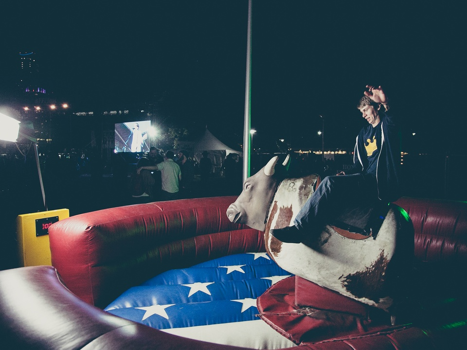Fun Fun Fun Fest 2014 Day 3 Owen Lovings Mechanical Bull