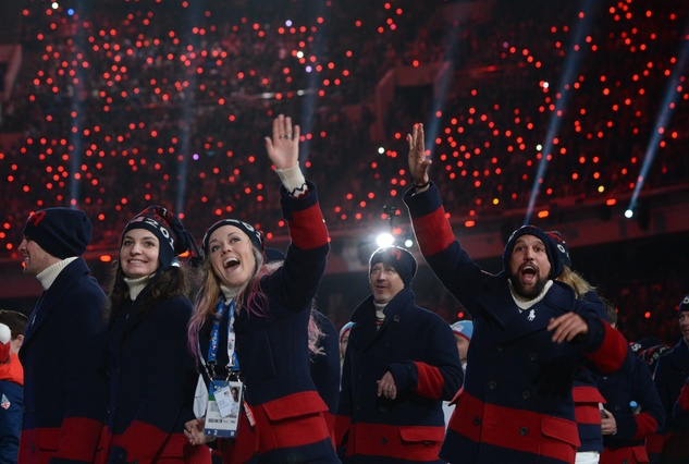 Ralph Lauren Olympics closing ceremony coat