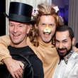 57 Shannon Hall, from left, Marcus Sloan, Fady Armanious and Todd Ramos at the Night Circus party January 2014
