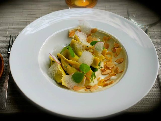 Prelog's European Kitchen & Bar_raviolo_Austin restaurant_2015