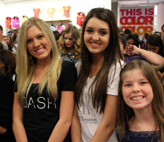 Fans waiting for Karadashians to appear at Sears Willowbrook in Houston Mqy 2013