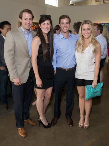 Nathan Nash, Rachel Nash, Jared Hutchins, Tierney Kaufman, affair of the art kickoff